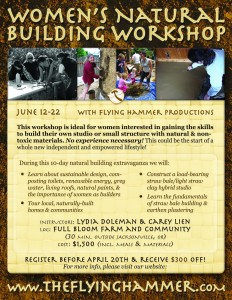 Women's Natural Building Workshop