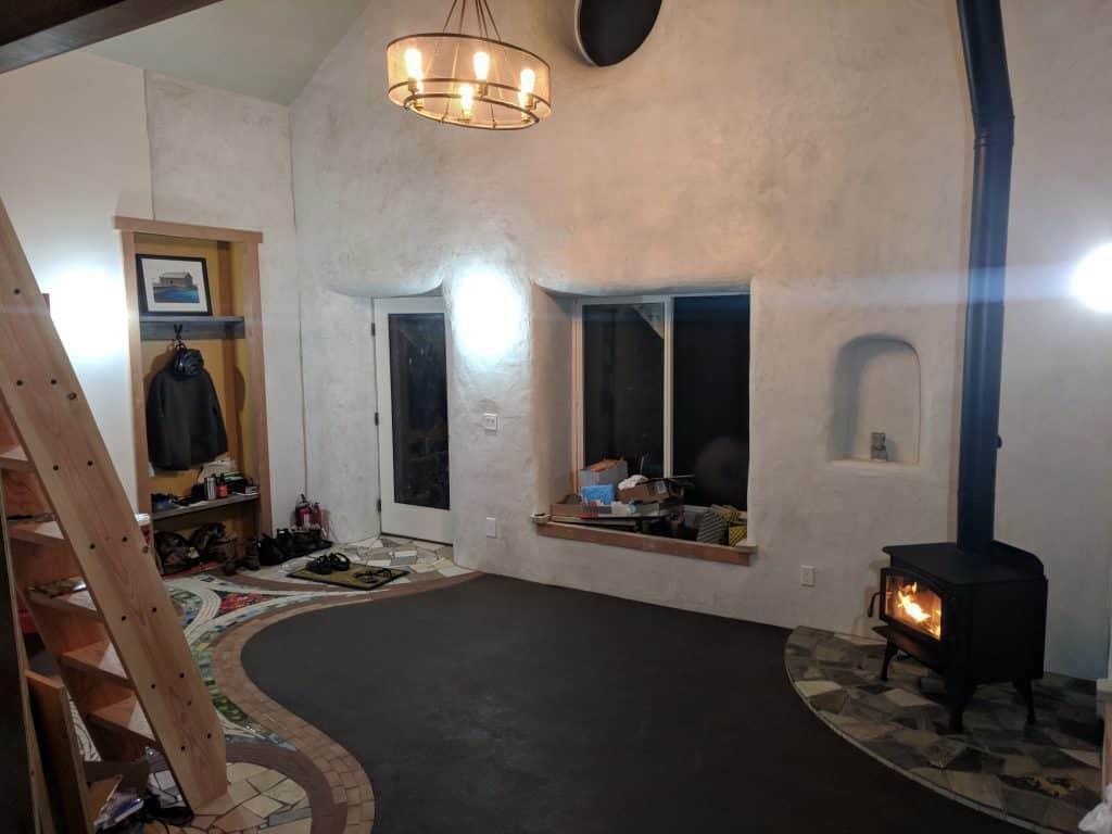 Applegate Cottage Interior at Night