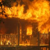 Conventional Home on Fire