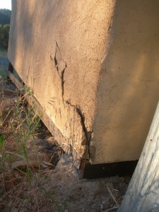 plaster failure on straw bale wall