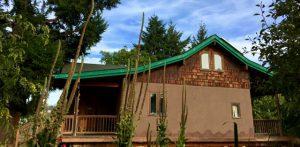 straw bale cabin