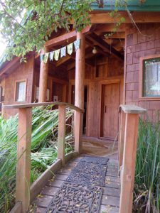 straw bale retreat bath house
