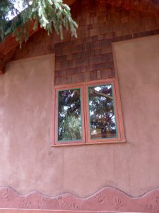 natural plaster straw bale wall