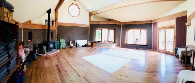 straw bale yoga center