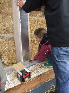 straw bale water isolation wall