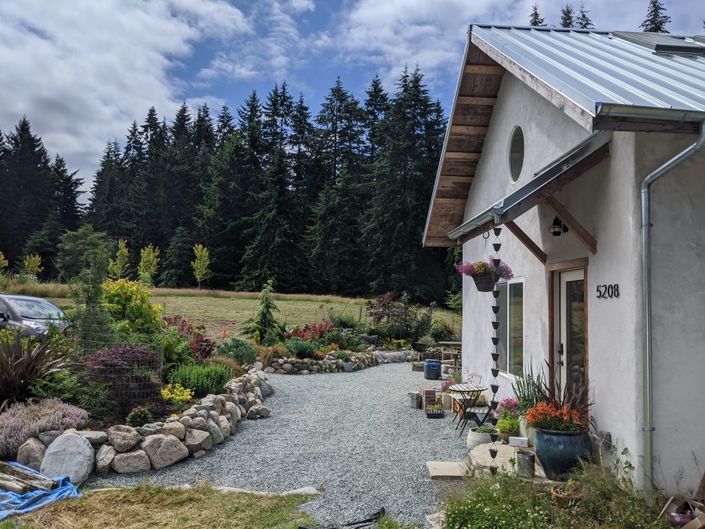 Applegate Cottage Entry with Landscaping