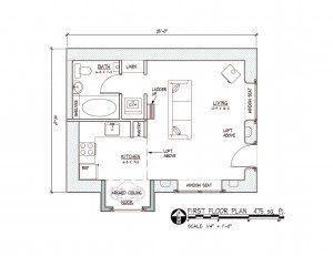 Applegate straw bale cottage floor plan