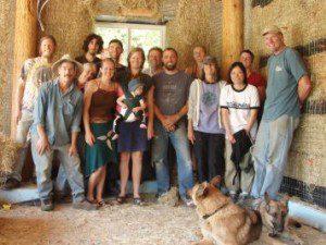 California Straw Bale Workshop Group Photo