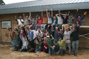 straw bale workshop graduate class