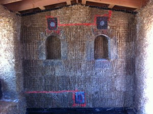 Hot Wire Locations in straw bale wall