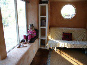 Terra Morrison on Straw Bale House Window Seat