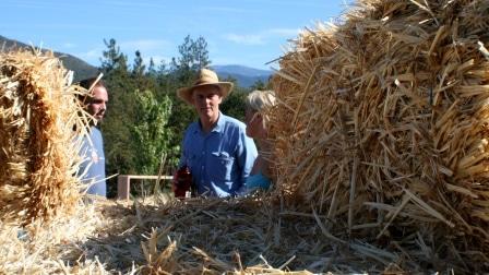 load bearing straw bale house