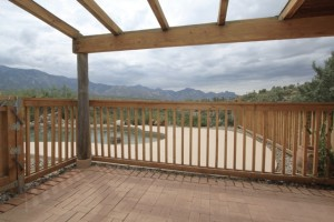 straw bale house patio