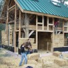 straw bale timber frame