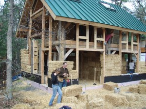 straw bale workshop site