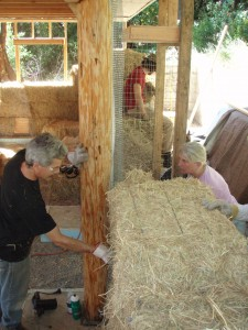 Adding straw bale walls to a timber frame house
