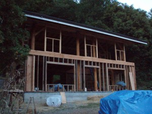 straw bale house framing