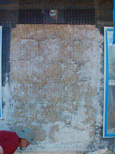 failed plaster sand