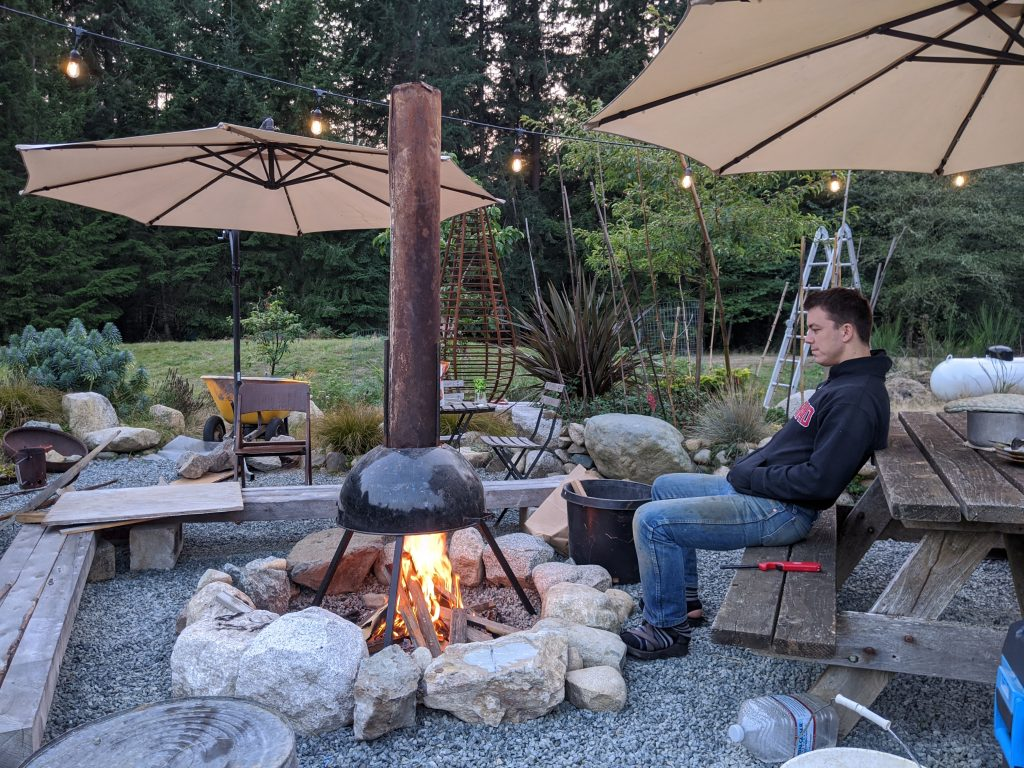 Sara Built That Outdoor Fireplace at the Applegate Cottage
