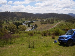 Car in Australian countryside