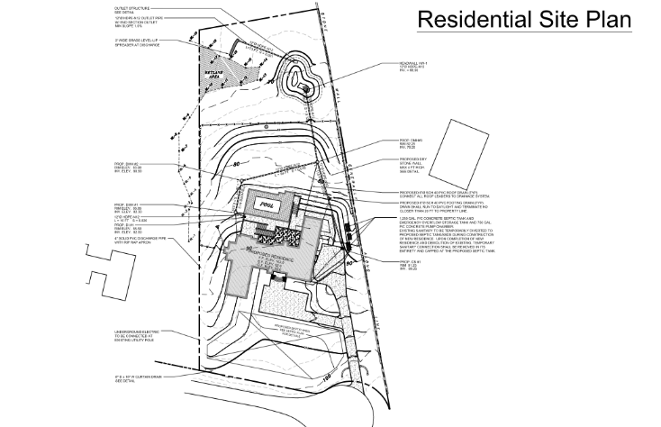 Residential Plot Plan Example