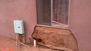 Repairing Damaged plaster straw Bale walls