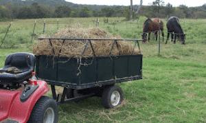 wagon with straw