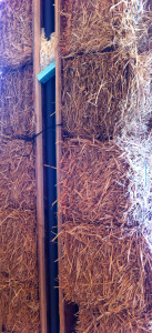 Vent LIne in straw bale wall