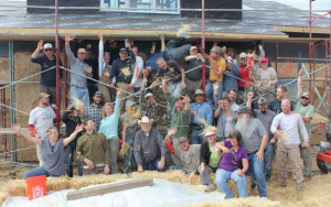 Straw Bale Workshop Group Photo