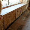 Window Seat in straw bale wall