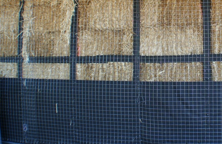 straw bales with vapor barrier