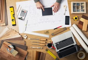 Contractor's desk