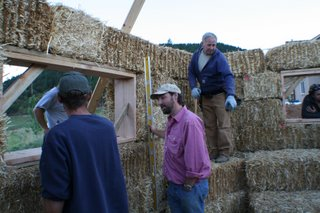 load bearing straw bale wall