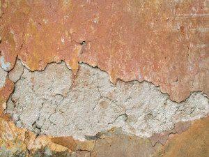 delaminating plaster