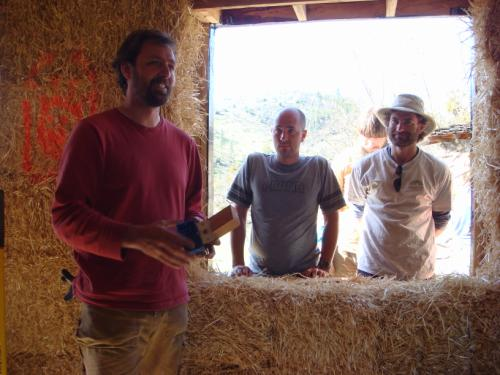Andrew Morrison teaching straw bale