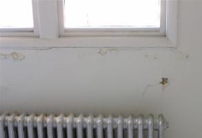 moisture damaged wall