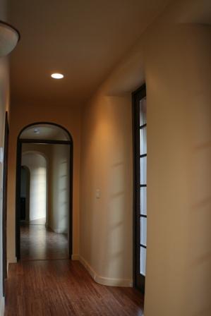 straw bale hallway