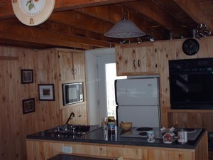 Kitchen in a straw bale house