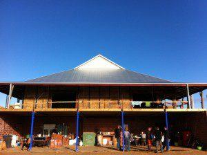 straw bale workshop site