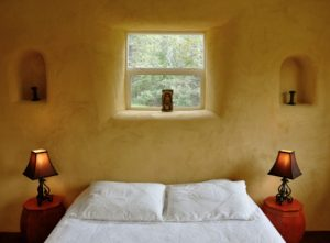 straw bale bedroom