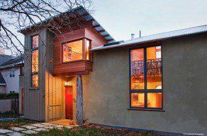 modern straw bale house