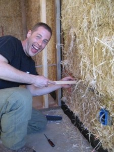 running electrical wire in straw bale wall